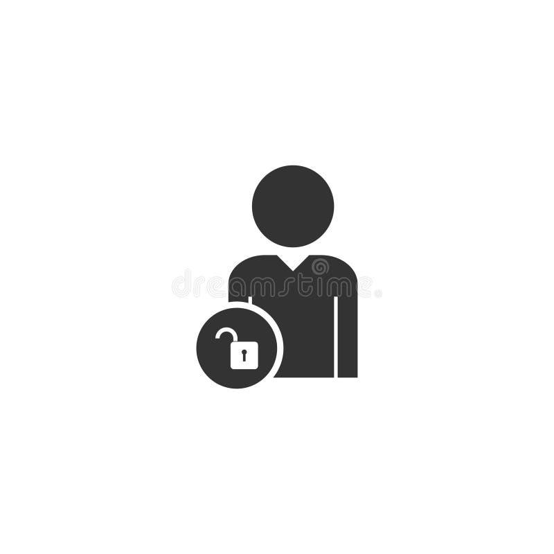 Значок замка человека плоско бесплатная иллюстрация