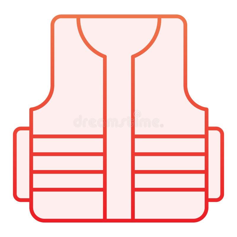 Значок защитного жилета плоский Значки жилета построителя красные в ультрамодном плоском стиле Конструкция носит дизайн стиля гра иллюстрация штока