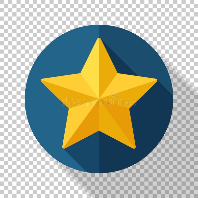 Значок звезды в плоском стиле на прозрачной предпосылке иллюстрация штока