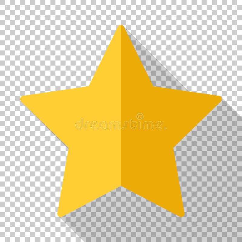 Значок звезды золота в плоском стиле на прозрачной предпосылке бесплатная иллюстрация