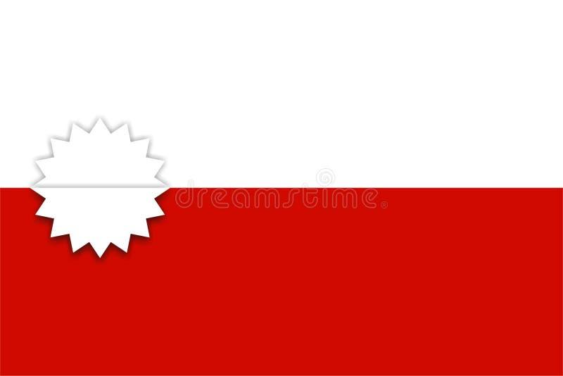 Значок звезды на белой и красной предпосылке иллюстрация штока