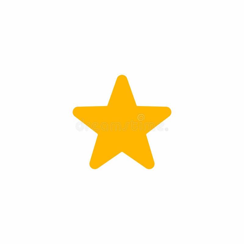 Значок звезды на белой предпосылке r иллюстрация штока