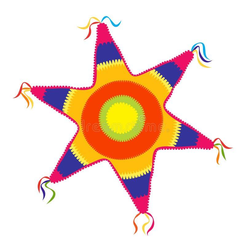 Значок звезды Pinata иллюстрация штока