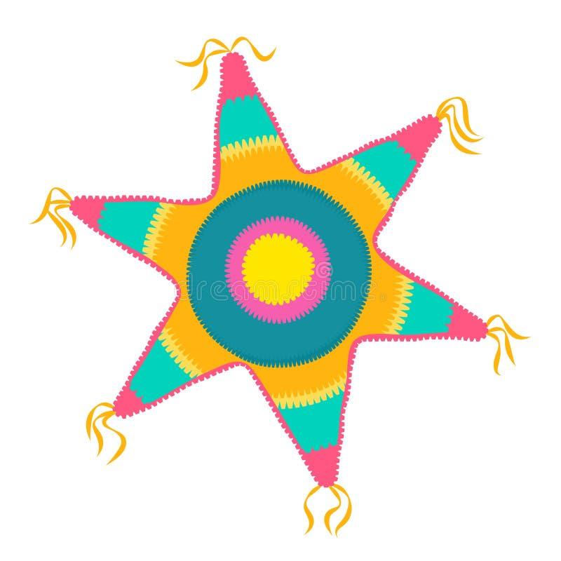 Значок звезды Pinata иллюстрация вектора
