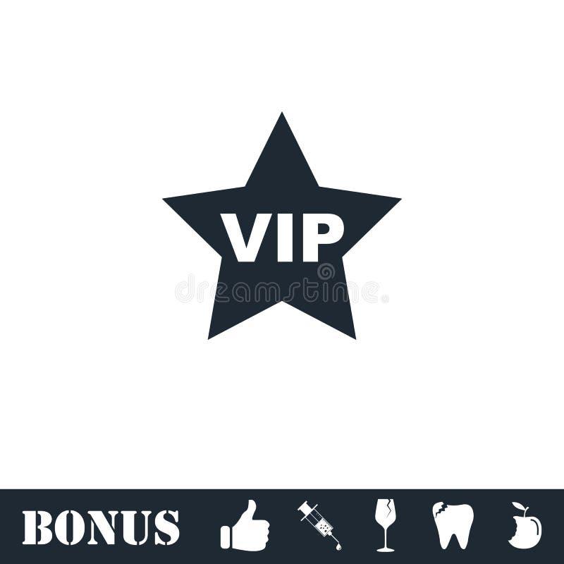 Значок звезды Vip плоско бесплатная иллюстрация