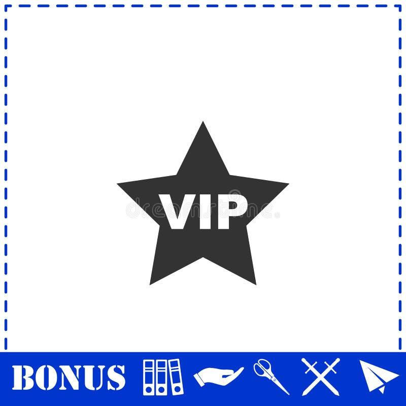 Значок звезды Vip плоско иллюстрация вектора