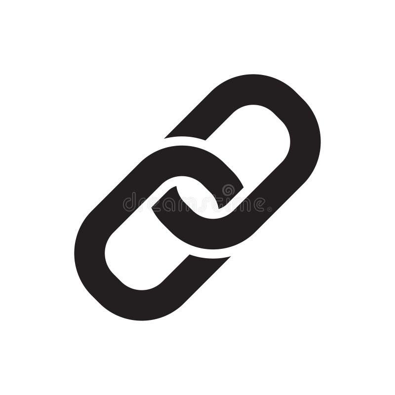 Значок звена цепи иллюстрация вектора