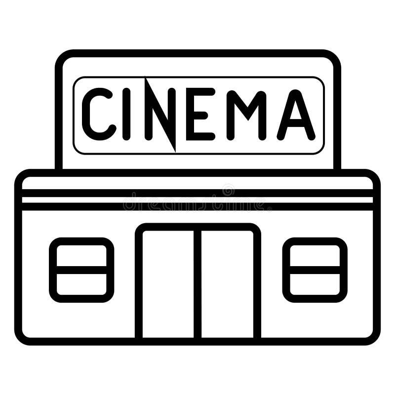 Значок здания кино иллюстрация штока