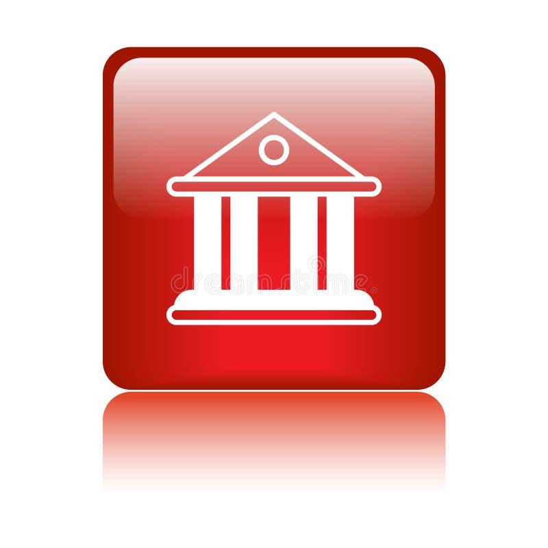 Значок здания суда/банка иллюстрация вектора
