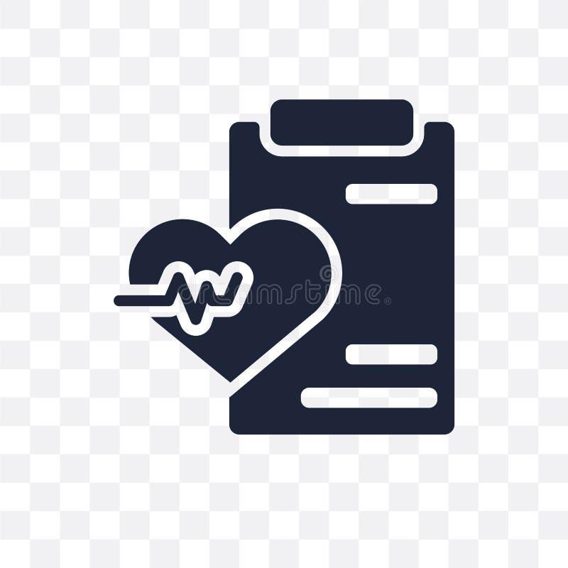 Значок здоровья прозрачный Дизайн символа здоровья от страхования иллюстрация штока