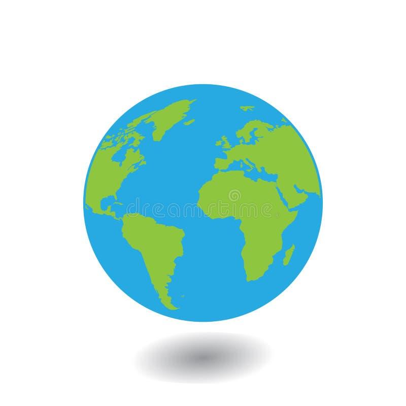 Значок земли планеты вектора Плоский значок земли планеты Плоская иллюстрация вектора дизайна для знамени сети, сети и передвижно бесплатная иллюстрация
