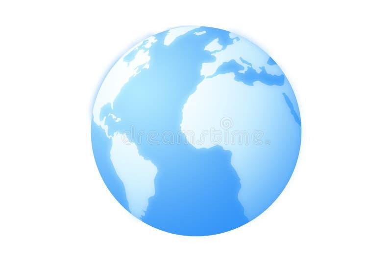 Значок земного глобуса стоковые фотографии rf