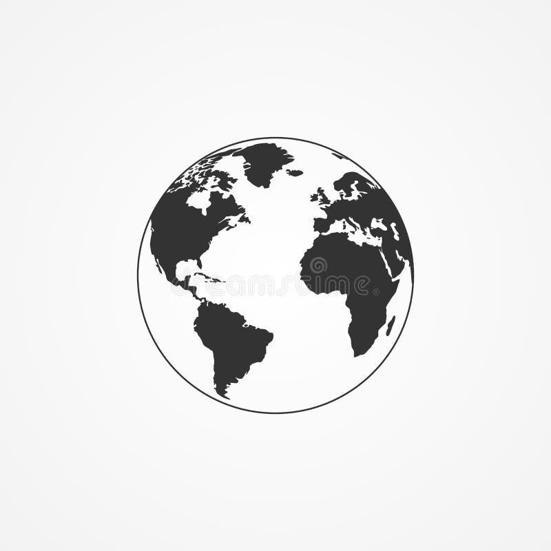 Значок земли планеты иллюстрация вектора