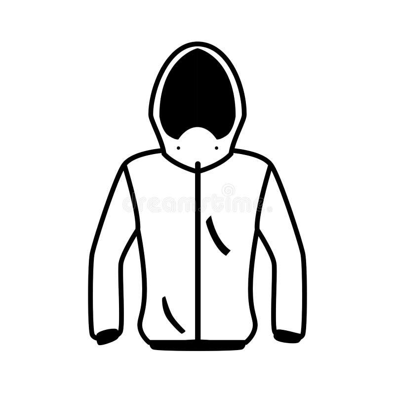 Значок зимы изолированный курткой бесплатная иллюстрация