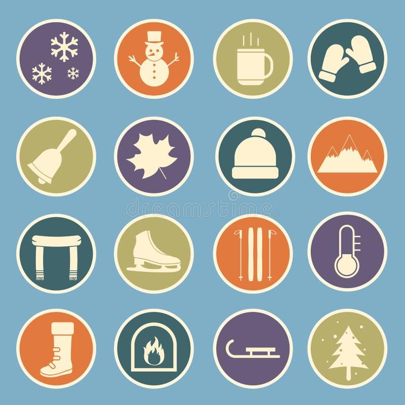 Значок зимы бесплатная иллюстрация