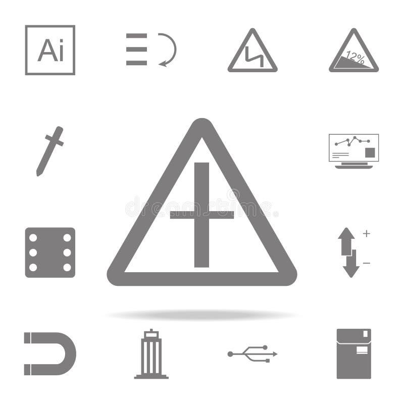 Значок знака вилки дороги комплект значков сети всеобщий для сети и черни бесплатная иллюстрация
