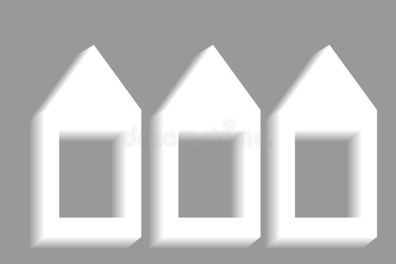 Значок знака внимания с стрелкой и место для текста иллюстрация вектора