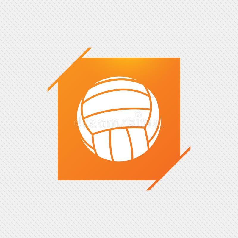 Download Значок знака волейбола Символ спорта пляжа Иллюстрация вектора - иллюстрации насчитывающей кнопка, знак: 81806286