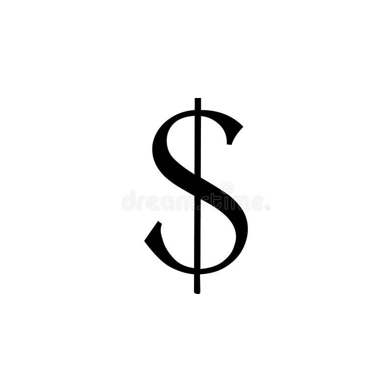 значок знака доллара Элемент значков сети Наградной качественный значок графического дизайна Знаки и значок для вебсайтов, сеть d бесплатная иллюстрация