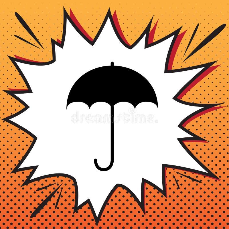 Значок знака зонтика Символ предохранения от дождя Плоский стиль дизайна V иллюстрация вектора