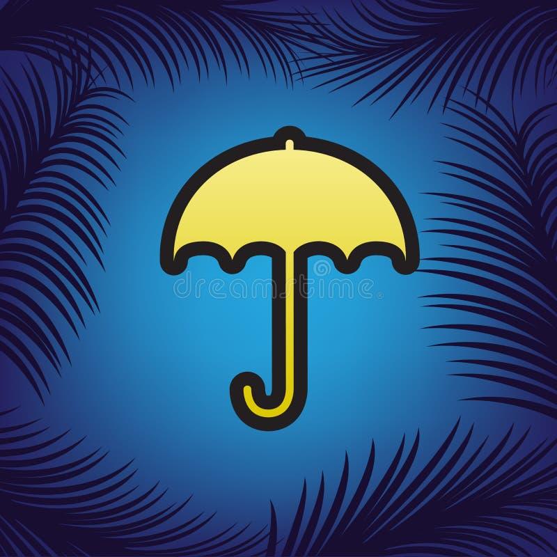 Значок знака зонтика Символ предохранения от дождя Плоский стиль дизайна V иллюстрация штока