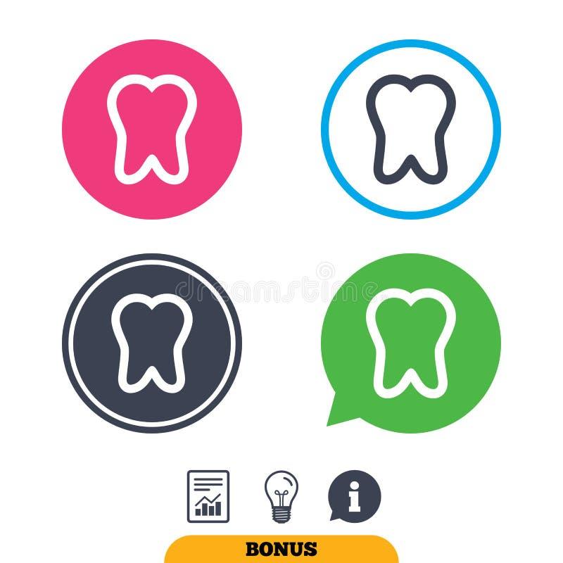 Download Значок знака зуба Символ зубоврачебной заботы Иллюстрация вектора - иллюстрации насчитывающей ярлык, светильник: 81806130