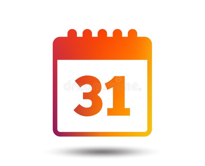Значок знака календаря Напоминание даты или события иллюстрация штока