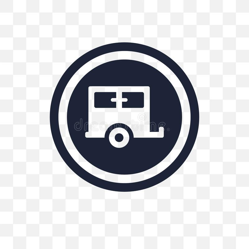 Значок знака каравана прозрачный Дизайн символа знака каравана от t бесплатная иллюстрация