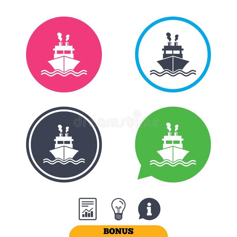 Download Значок знака корабля или шлюпки Символ поставки доставки Иллюстрация вектора - иллюстрации насчитывающей sailing, график: 81805659