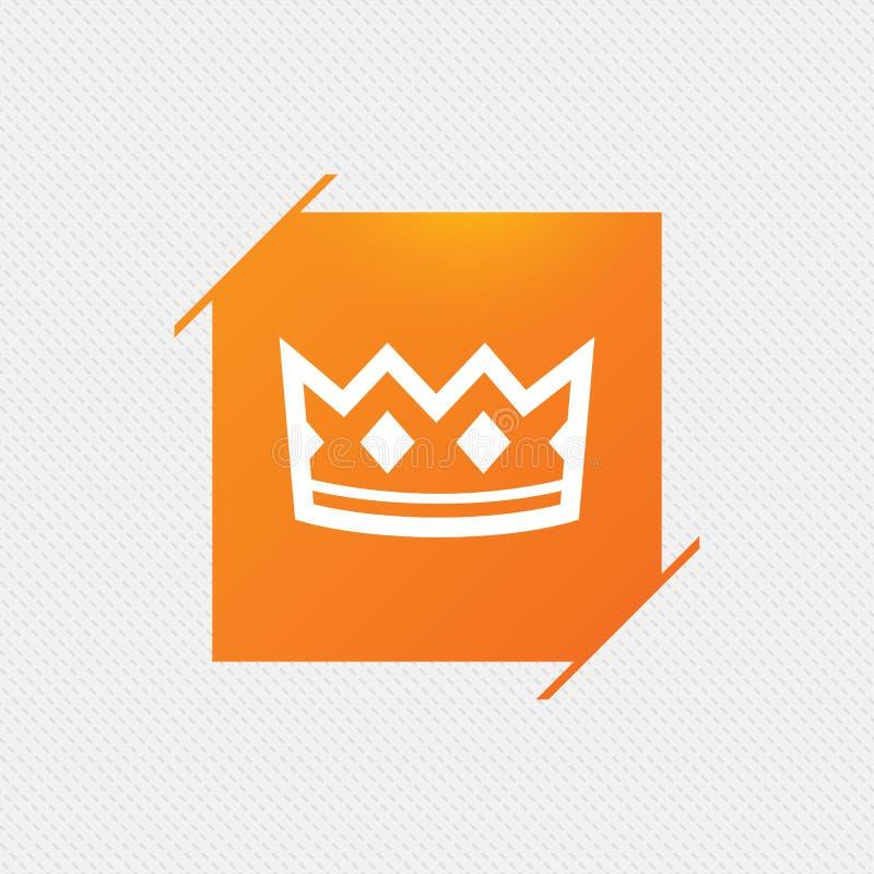 Значок знака кроны Символ шляпы короля иллюстрация штока