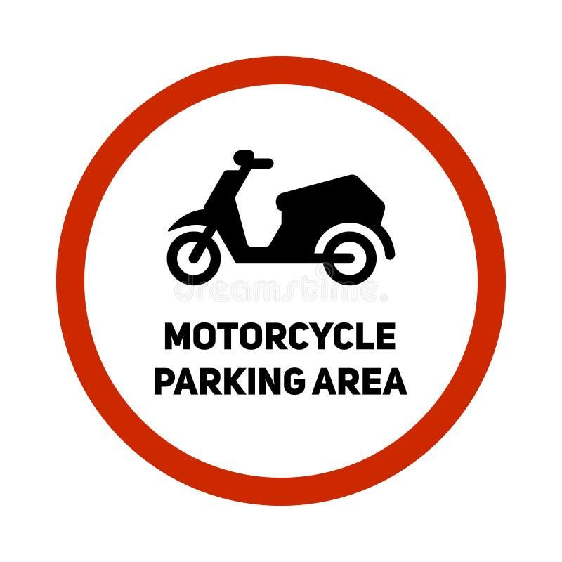 Значок знака парковки мотоцикла иллюстрация вектора
