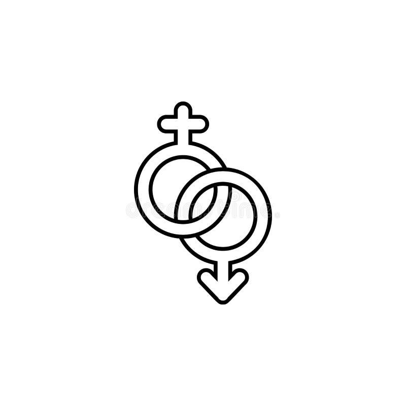 значок знака пола Элемент свадьбы для передвижной иллюстрации apps концепции и сети Тонкая линия значок для дизайна и developmen  иллюстрация вектора