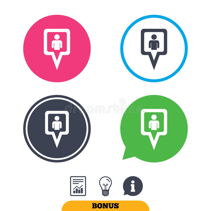 Download Значок знака потребителя указателя карты Символ отметки Иллюстрация вектора - иллюстрации насчитывающей ярлык, свет: 81804136