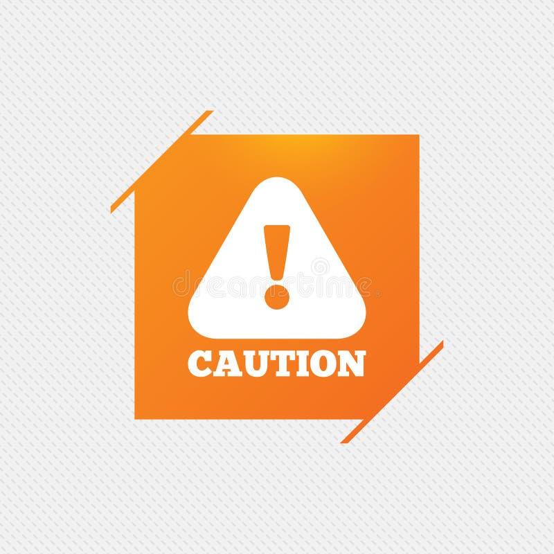 Значок знака предосторежения внимания Восклицательный знак иллюстрация вектора