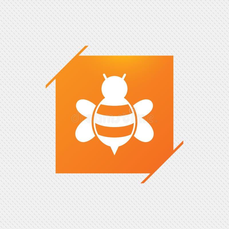 Значок знака пчелы Пчела или символ apis иллюстрация вектора