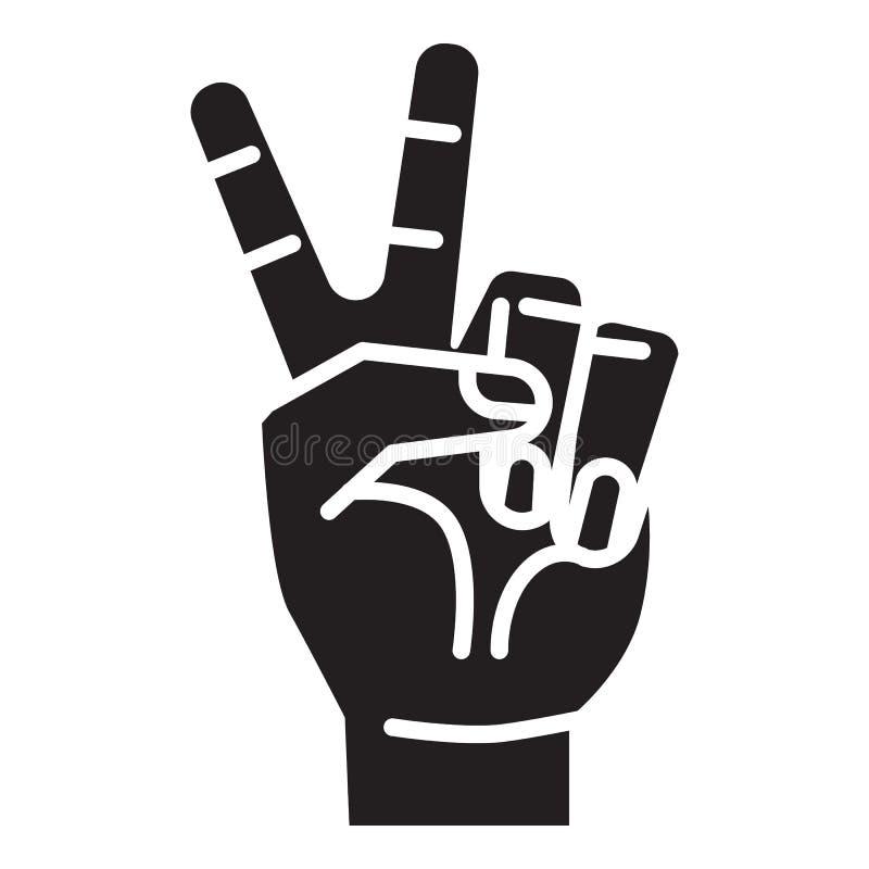 Значок знака руки мира, простой стиль иллюстрация вектора