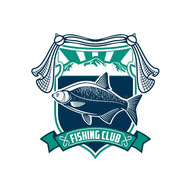 Значок знака спортивного клуба рыбной ловли бесплатная иллюстрация