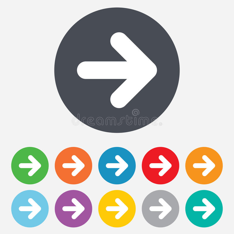 Значок знака стрелки. Следующая кнопка. Символ навигации стоковое изображение