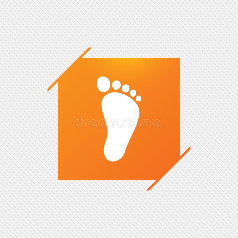 Значок знака следа ноги ребенка оголенные иллюстрация вектора
