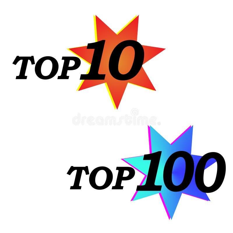 Значок знака тега стрелки TOP 10 бесплатная иллюстрация