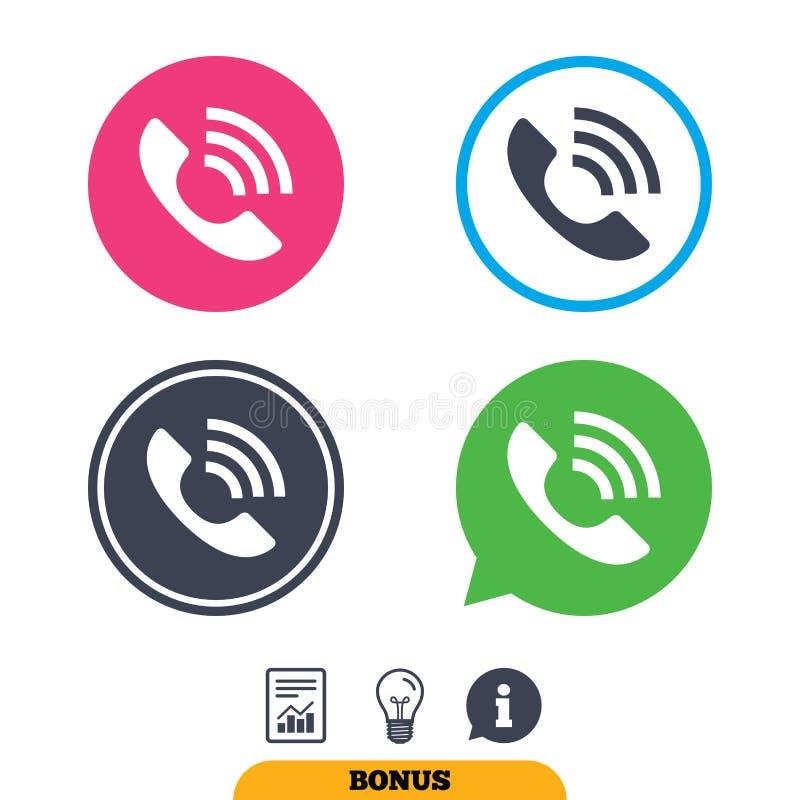 Download Значок знака телефона Символ поддержки Иллюстрация вектора - иллюстрации насчитывающей кнопка, график: 81804841