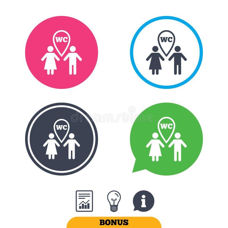 Download Значок знака туалета WC Символ уборного Иллюстрация вектора - иллюстрации насчитывающей геометрическо, авиапорты: 81806448