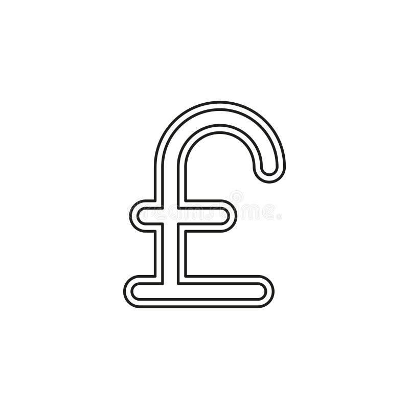 Значок знака фунта, иллюстрация фунта денег иллюстрация штока