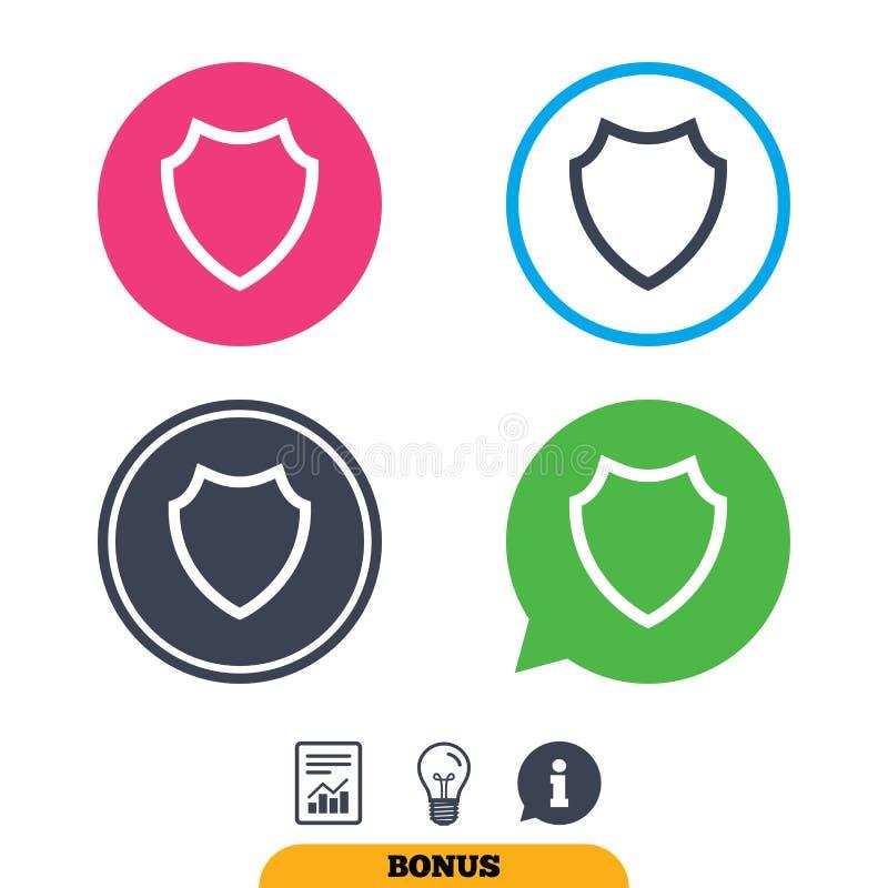 Download Значок знака экрана Символ защиты Иллюстрация вектора - иллюстрации насчитывающей предохранитель, информация: 81805647