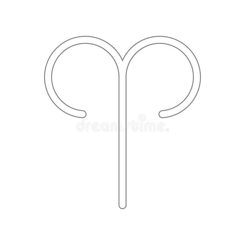 Значок знака Aries зодиака Элемент сети для мобильных концепции и значка приложений сети r бесплатная иллюстрация