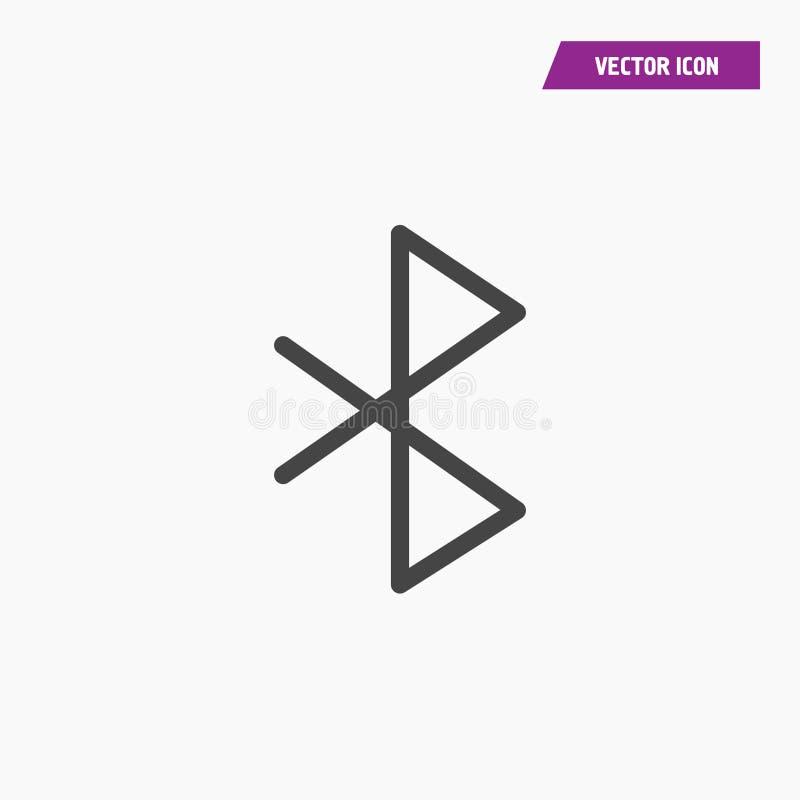 Значок знака Bluetooth Мобильный символ сети иллюстрация штока