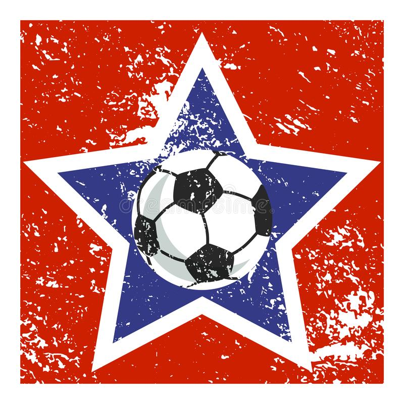 Значок знаменитого футболиста иллюстрация вектора