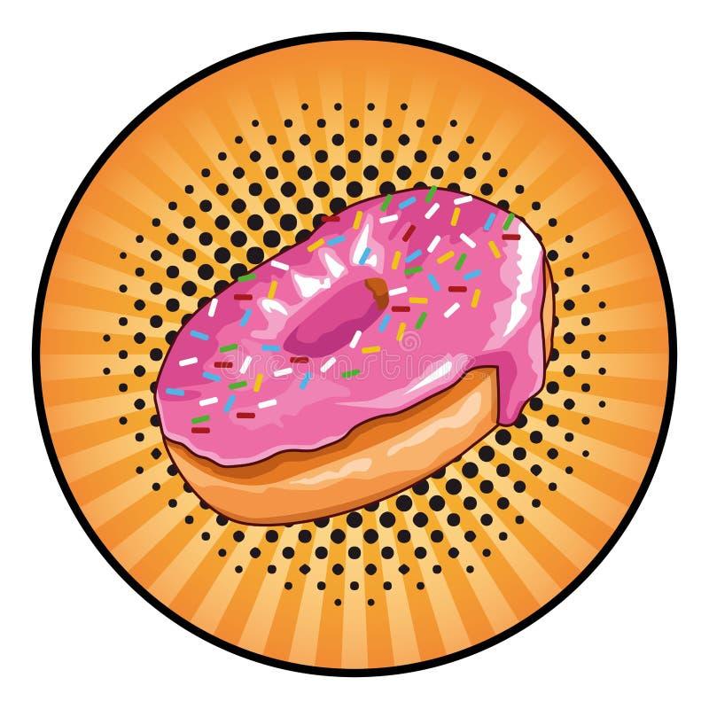 Значок значка донута круглый иллюстрация штока