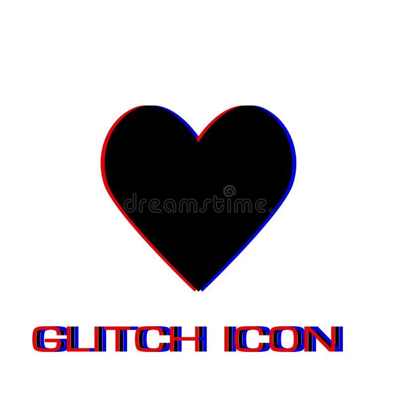 Значок значка сердца плоско иллюстрация штока