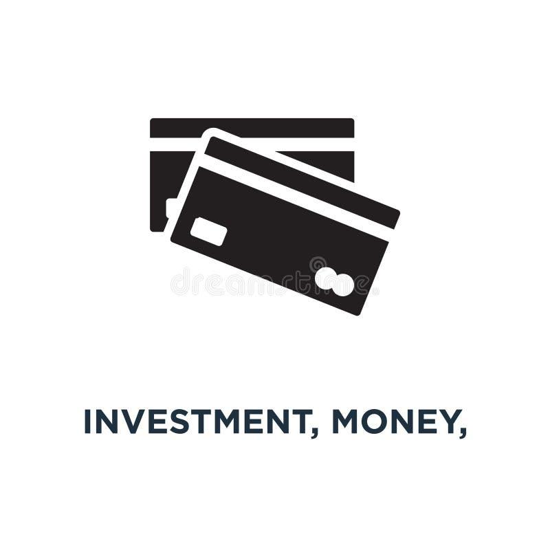 значок значков вклада, денег, финансов и банка mana дела иллюстрация вектора